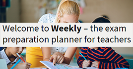 Weekly– the exam preparation planner for teachers